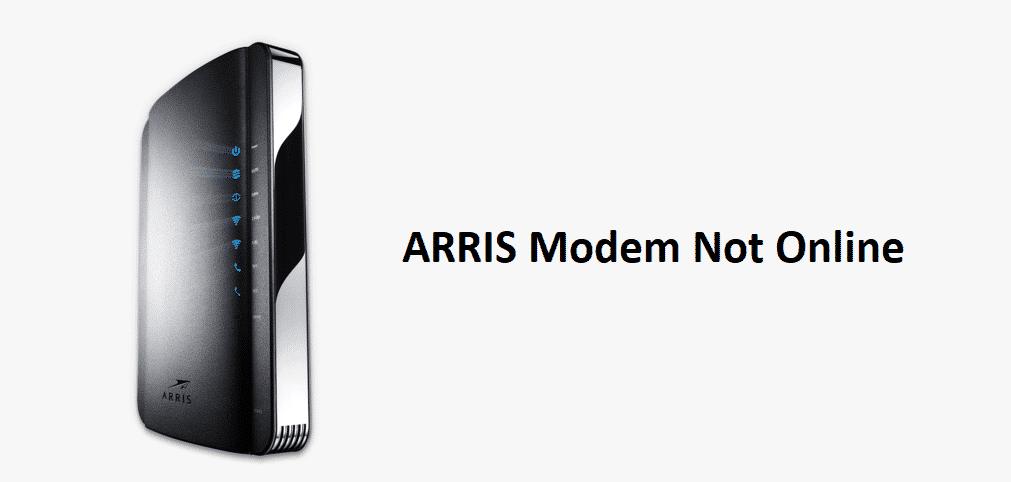arris modem not online