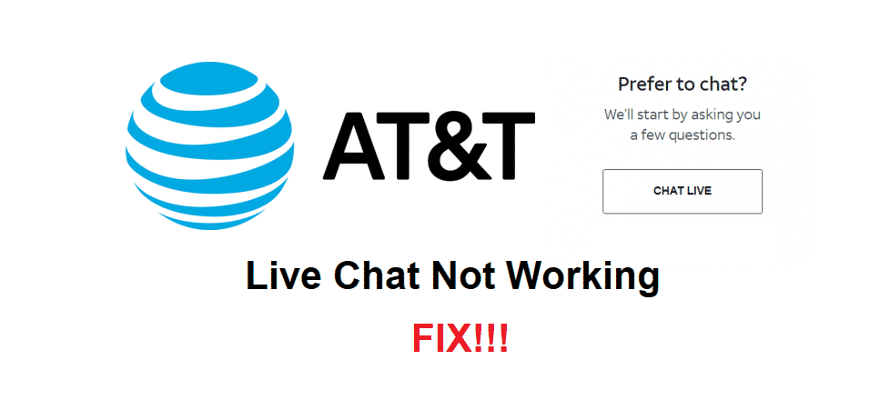 att live chat not working