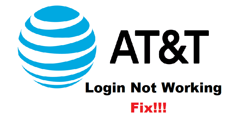 at&t login not working
