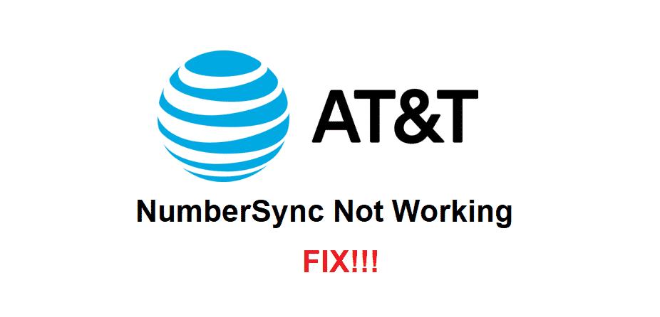 att numbersync not working