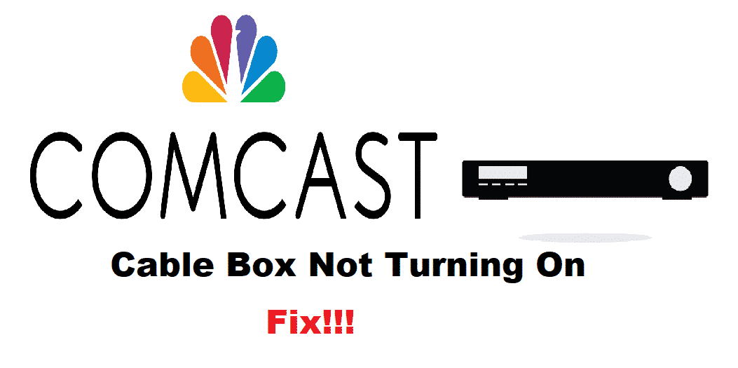 comcast cable box not turning on