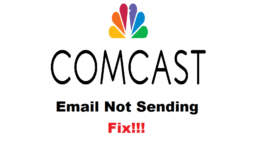comcast email not sending