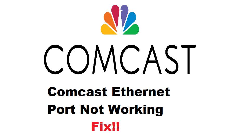 comcast modem ethernet ports not working