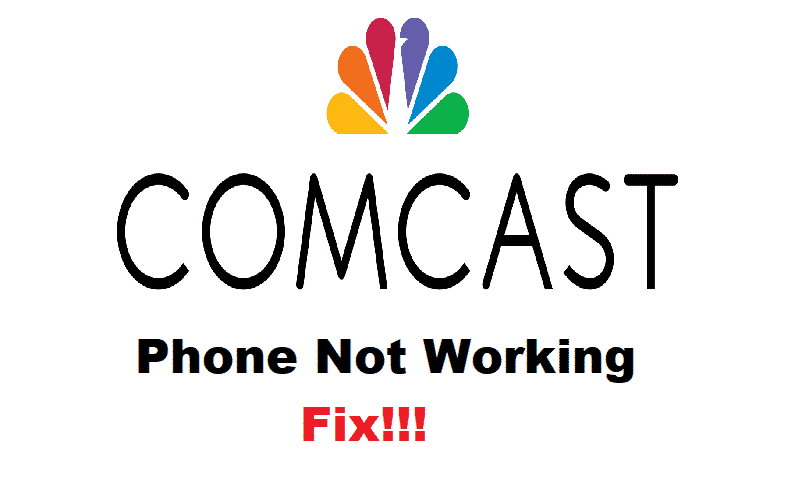 comcast phone not working