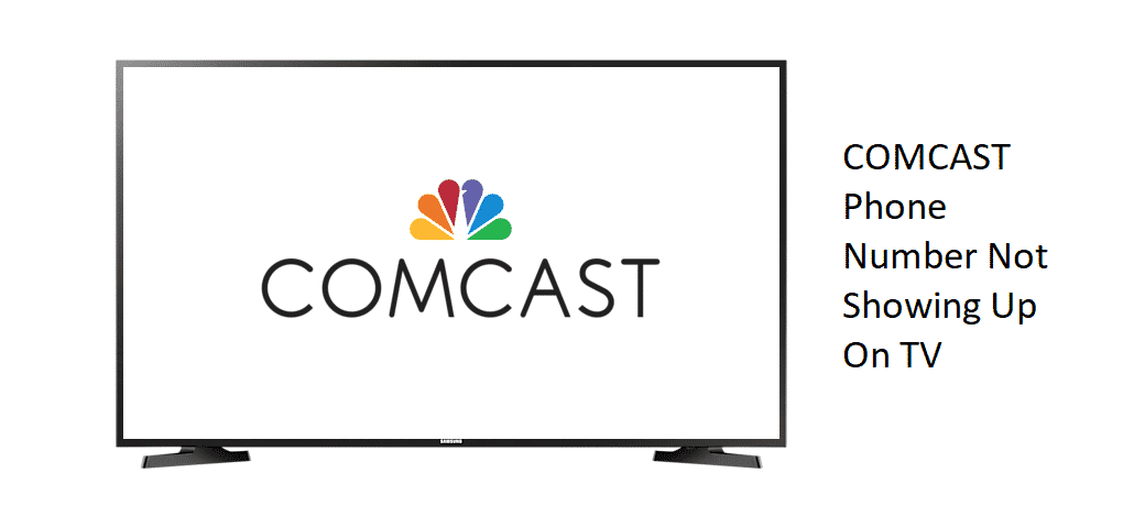 comcast phone number not showing up on tv