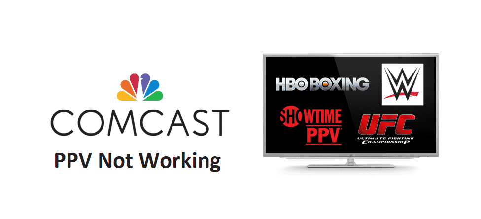 comcast ppv not working