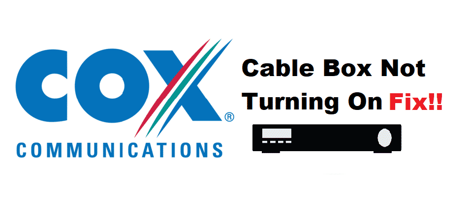 cox cable box not turning on