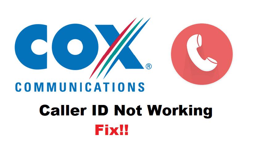 cox caller id on tv not working