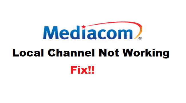 mediacom local channels not working
