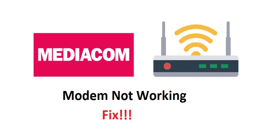 mediacom-modem-not-working