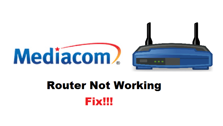 mediacom router not working
