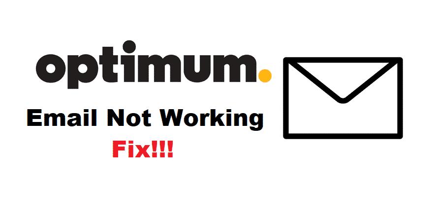 optimum email not working