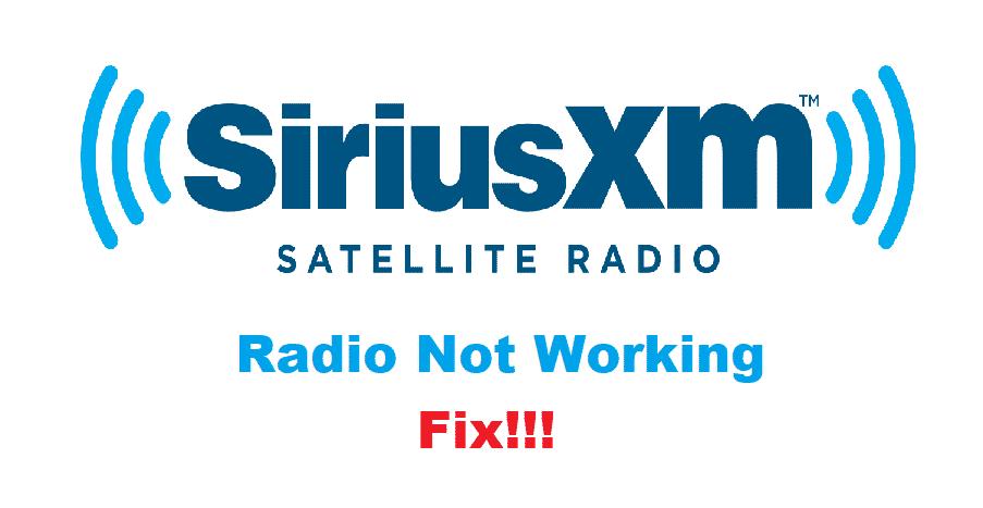 siriusxm internet radio not working