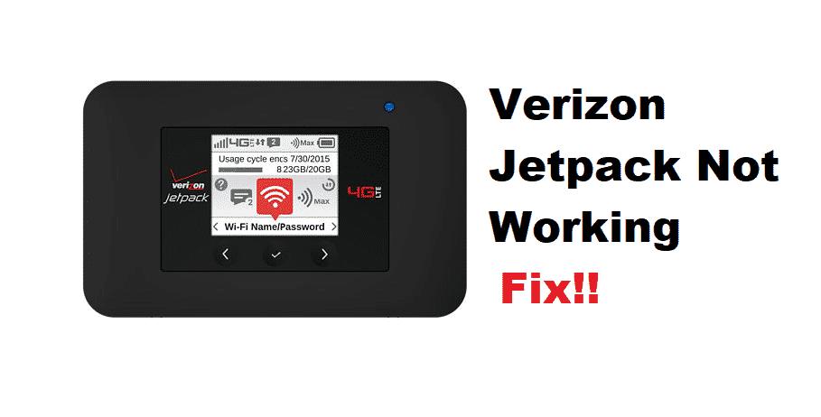 6 Ways To Fix Verizon Jetpack Not Working - Internet ...