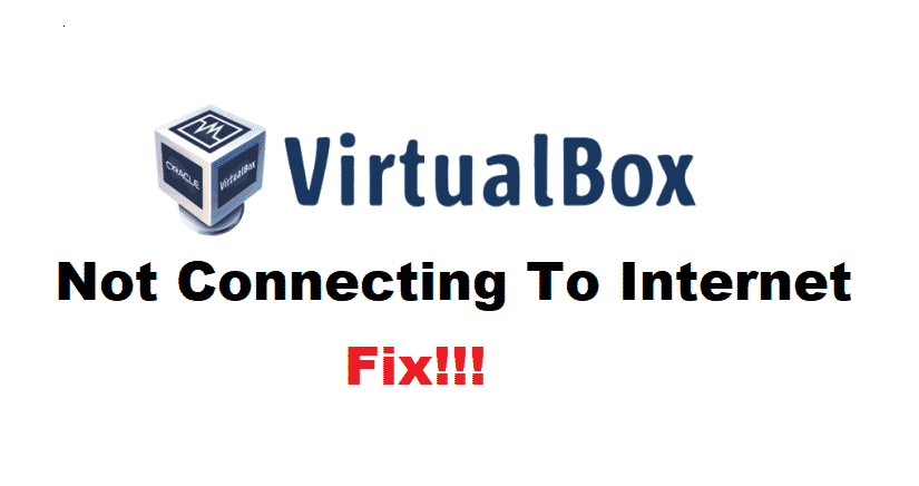 virtualbox not connecting to internet