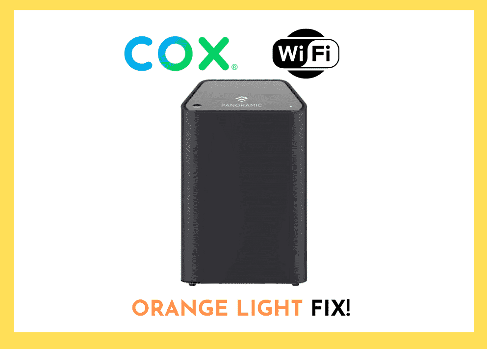 Cox Panoramic Wifi Blinking Orange Light