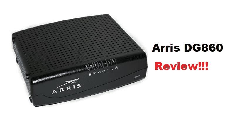 arris dg860 review