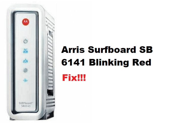 arris surfboard sb6141 blinking red