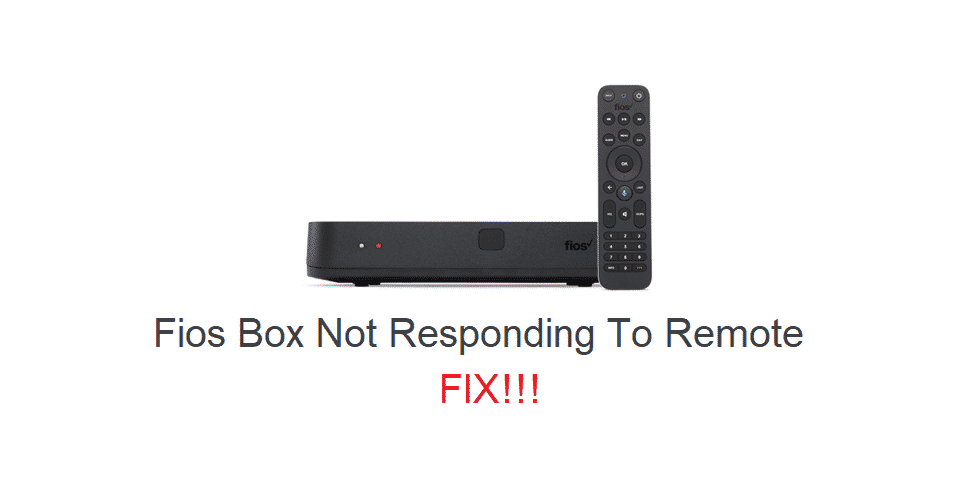 fios box not responding to remote