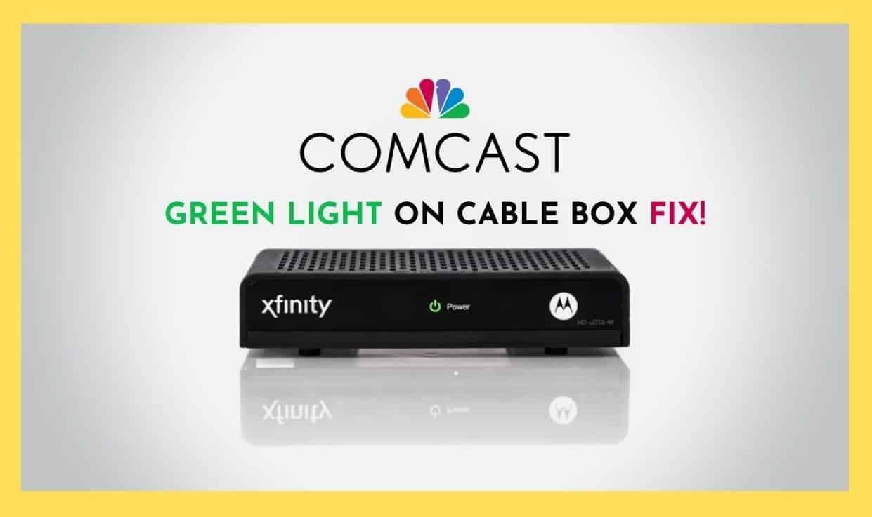 green light on cable box