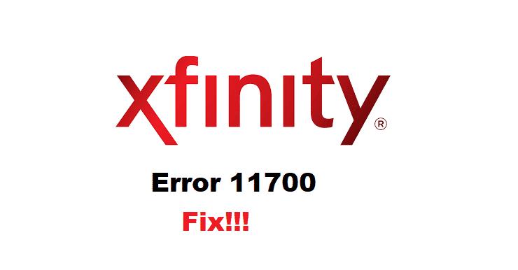 xfinity error 11700