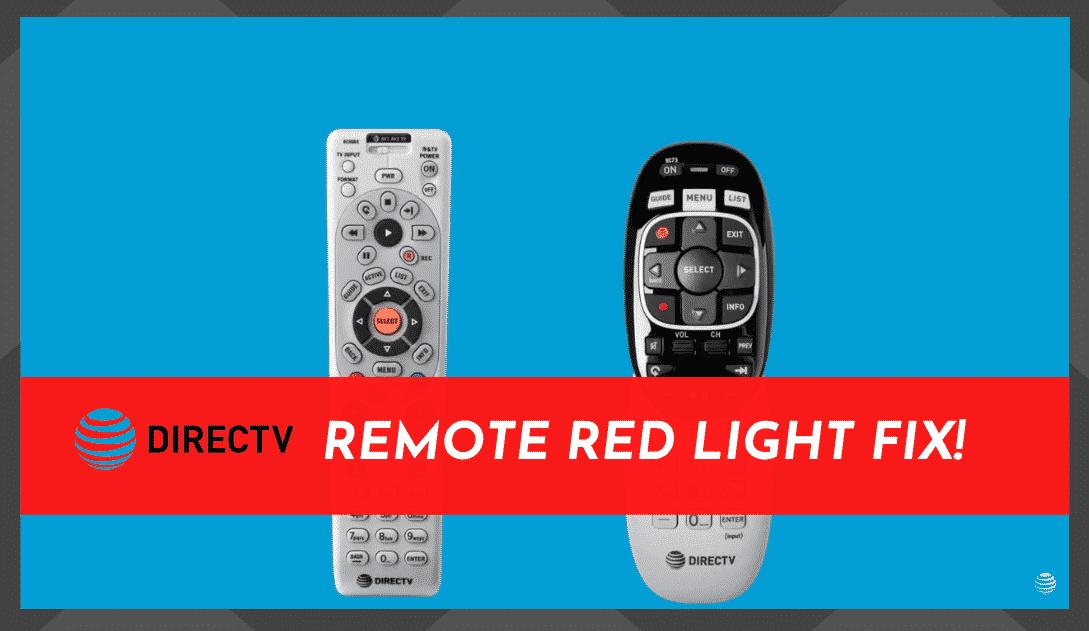 DirecTV Remote Red Light