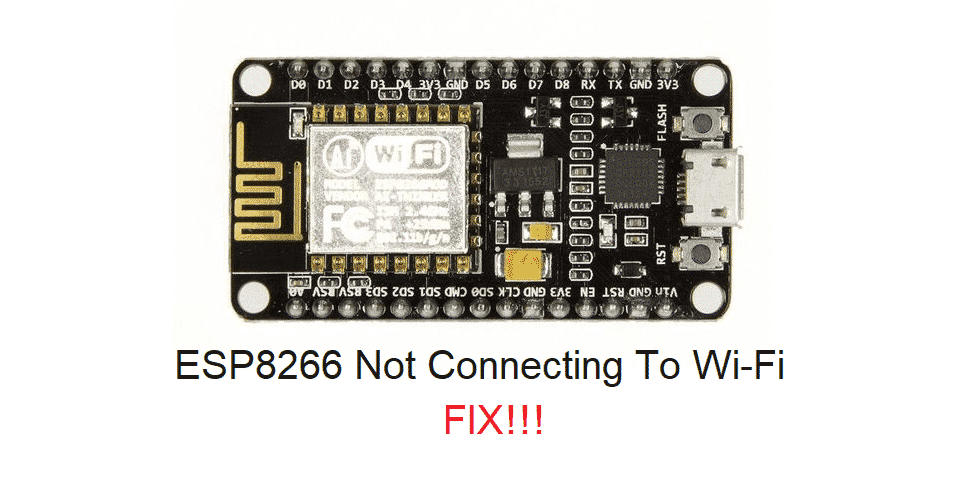 esp8266 not connecting to wifi