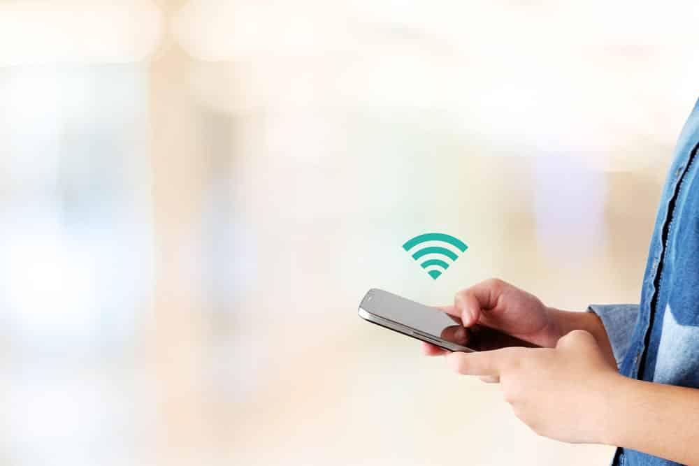using work wifi on phone