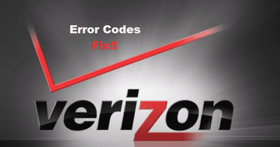 verizon error codes