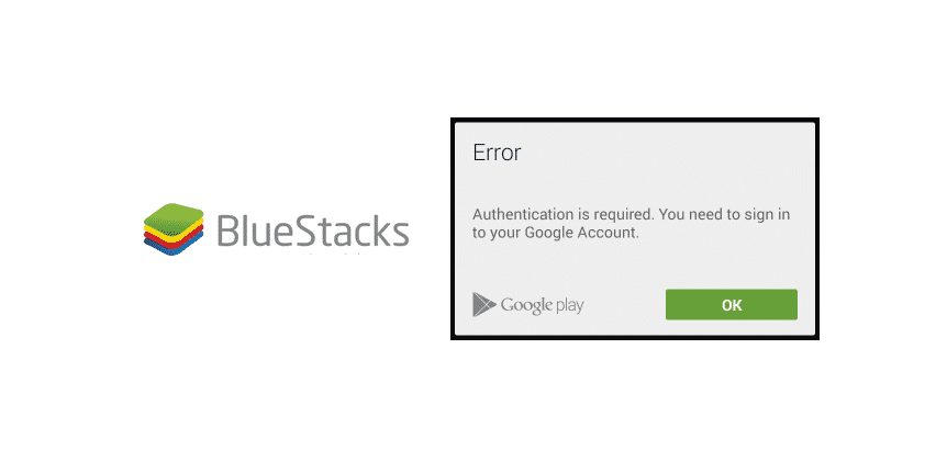 authentication is required. you need to sign in google account bluestacks