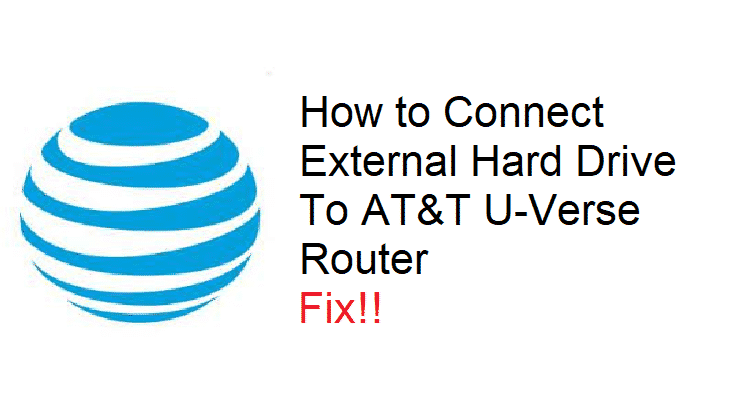 how to connect external hard drive to att uverse router