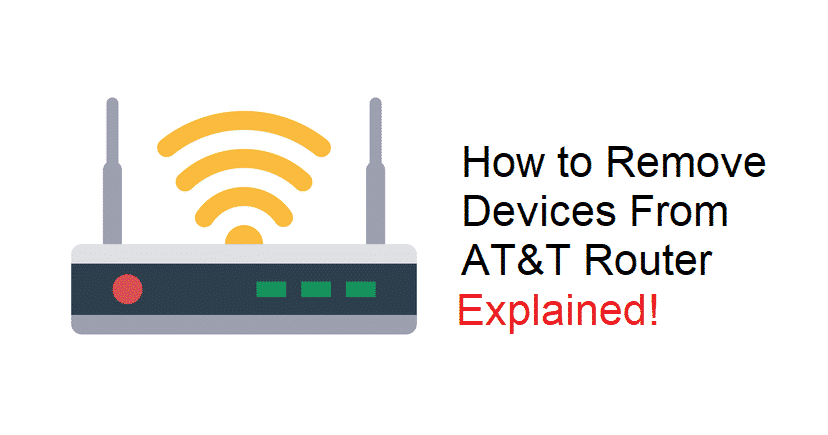 how to remove devices from my at&t wifi