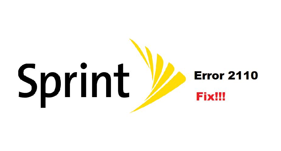 sprint error message 2110