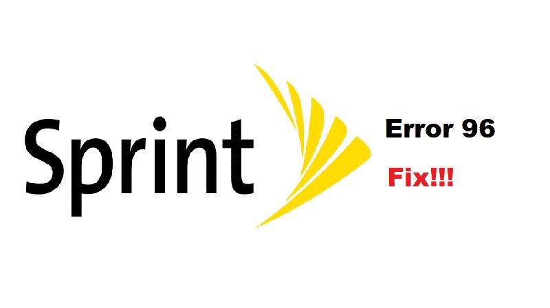 what is sprint error 96
